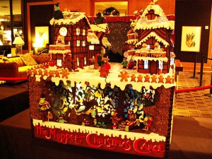 Yes, it's the gingerbread version of the street you see in the movie. Yet, they have fraggles underground which weren't featured.
