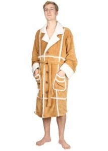 "From Telegraph: ""This isn't a sheepskin coat, though that would probably be bad enough. No, this is a dressing gown that looks a little bit like a sheepskin coat. On the plus side, that does mean you won't be tempted to leave the house in it."""