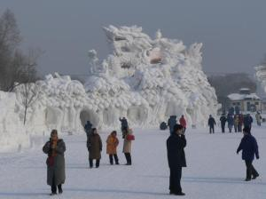 Yes, the Chinese surely have elaborate dragons in their artwork and celebrations. This one is no exception.