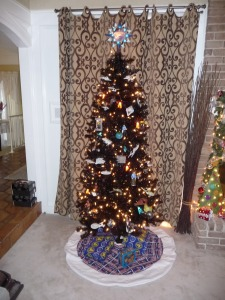 Yes, this is the ultimate Trekkie Christmas tree for any fan. Even has a star of the Enterprise on top.