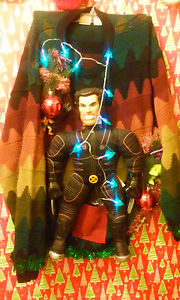 For some reason, despite his popularity, Wolverine doesn't have a Christmas sweater like other Marvel superheroes do. Still, like the blue lights.