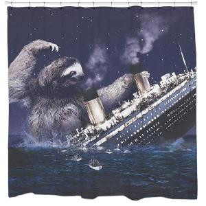 And I see the sloth clawing at the Titanic. I'm sure it won't end well at all.