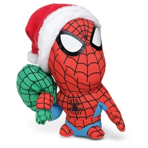 This holiday plush also seems to depict him with a big head. Still, like the Santa hat.