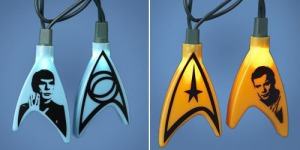 These have Starfleet insignia on the front and Kirk or Spock's face on the back. A must have for any Starfleet captain.