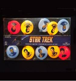 Features Kirk, Spock, Uhura, and Sulu. But a must have for any Trekkie.