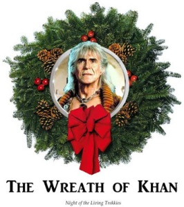 Yes, I put up a wreath of Khan before. But this one is in Christmas card form, which I couldn't resist.