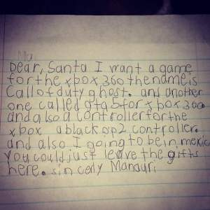 I suppose there are some kids who would be away for Christmas. But I'm sure Santa could manage.