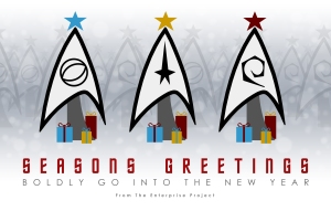 Well, this is a real Christmas card from the Enterprise Project. I'm not sure what it is exactly.
