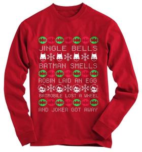 But such version of him smelling makes a great ugly Christmas sweater. See it for yourself.