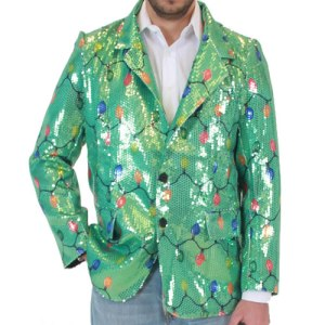 Yes, it's another sequin jacket. But this one contains lights. And yes, it looks ridiculous.