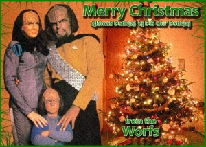 Tragically, the Worfs' domestic happiness wasn't destined to last long. Because K'Ehleyr would later die and his son would later be sent away to his family on Earth. Sure he later marries Jadzia Dax but she dies, too.