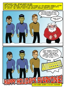 For unless you're Scotty, there's a chance you probably won't last long. Santa learned the hard way.