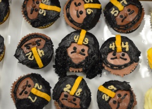 These cupcakes feature players from the team. Like the Polamalu one the best.