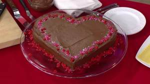 I'm sure plenty of women would love a cake like this from their significant other. Love the chocolate icing.