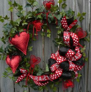 Actually it seems to have red hearts and ribbons all over it. Might be used for spring if it weren't for the V-Day trimmings.