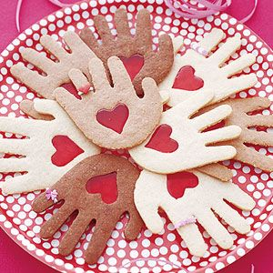 Well, they're hand cookies with hearts in them. And they're in different colors to illustrate diversity.