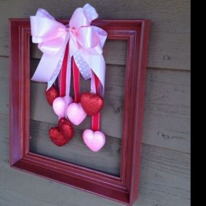 Don't forget to put a pink ribbon on top. And paint the frame red while you're at it.