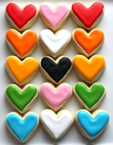 You can also find hearts in yellow, orange, green, blue, or purple. Lovely.