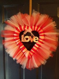 It even has the word love in the center. And the tulle is in red, white and pink.