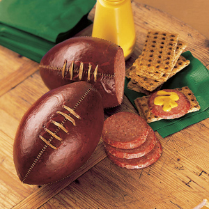 So this is football sausage. Not sure what to make of this if you ask me.