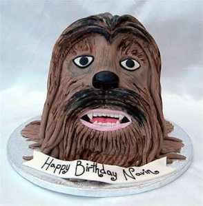 This is kind of demented if you think about it. Also, that doesn't really look like Chewbacca. More like some brown shaggy dog.