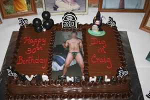 I'm not sure what the hell they were thinking when it came to depicting the birthday boy in a speedo. That's just embarrassing and insane.