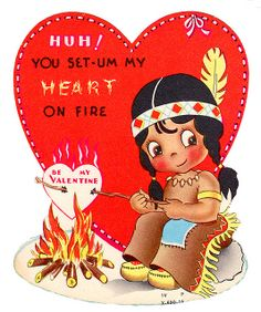 Okay, this is kind of offensive to Native Americans. If the heart roasting doesn't raise eyebrows, the speech should.