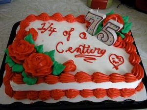 This Cake Has A 1 4 Of Century Which Means It Should Be For