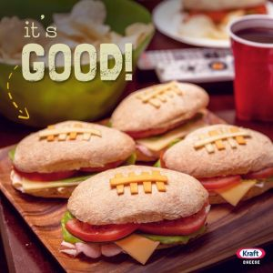 Each one contains ham, cheese, lettuce, and tomato. Great for tailgate parties and playoff games.
