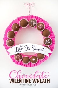 "Well, the chocolates aren't real. Love the saying ""Life Is Sweet."""