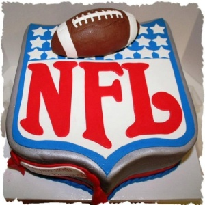 Yes, I had to include an NFL cake. Since they sponsor the Super Bowl. However, their policies aren't always the greatest.