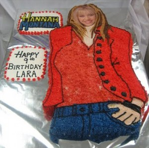 However, this cake doesn't get Miley Cyrus's proportions right. And the rest of her comes off very cartoonish.