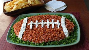 Okay, that sounds pretty disgusting. Doesn't help that the football is covered in bacon.