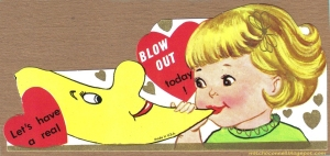 Or is it supposed to be blowjob? Because that's how I take it away from this picture.