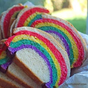 Well, I included rainbow bread before. But not in this neat and tighty fashion like this.