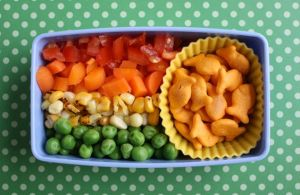 Sure it may be a bento lunch. But at least it's rather healthy despite only including 4 colors.