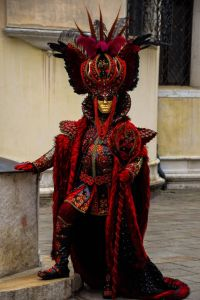 Yeah, I know he looks a bit strange. But you get costumes like this at the Carnival of Venice.