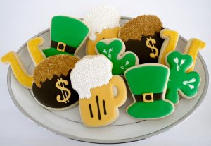 Includes pot of gold, leprechaun hat, shamrocks, and a pint of beer. Not sure what the Irish would think of this.