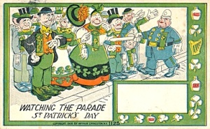 However, this doesn't change the fact the Irish here are depicted in a very disparaging way. And that there's booze depicted along the border.