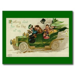 So this card implies that the Irish are bad drivers? Seems to be the case.