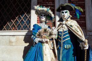 For some reason, a lot of couples wear similar colored costumes. And they seem to come straight from the Cavalier Years.