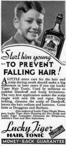 Unfortunately, Lucky Tiger won't prevent hair loss if baldness runs in your family. Because that's determined by genetics, folks. But some will lose their hair earlier than others.
