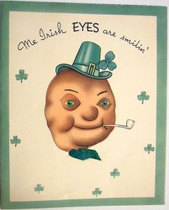 Hate to say this, but Irish Mr. Potato Head looks so damn creepy. Like he's out to get you during a hangover kind of way.