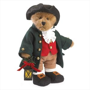 Sure you may find it odd that he's dressed from the 18th century. But his attire suggests a festive spirit at the tavern.