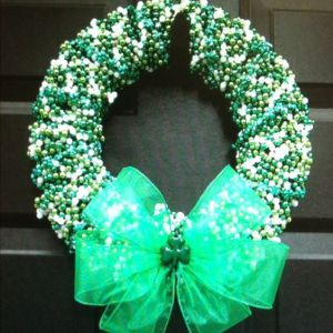You can put this wreath up during Mardi Gras if you want. Since it's on the 28th. Though it might look a bit strange.
