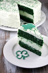 Wonder what green velvet cake tastes like. Then again, it might be better not to know.