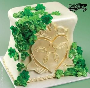 Okay, this is from a bakery and might be used for a wedding. But what a wonderful cake it surely is.