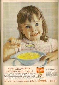 Because there's nothing that your budding psychokiller won't enjoy more than some very salty chicken noodle soup. Campbells Mmmmm....salt.