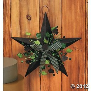 Yes, it has some shamrocks and green. But it's not the rustic decor meant for the barn.