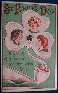 And in Ireland, you'll find Irish girls come in 3 different varieties such as blond, brunette, and redhead. As this pipe shamrock smokescreen can show.